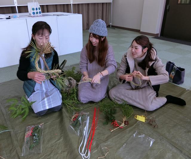 「しめ縄飾り作り」三浦 吉之