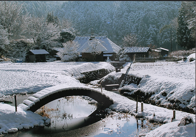 「里の雪景色」岩﨑 芳彦